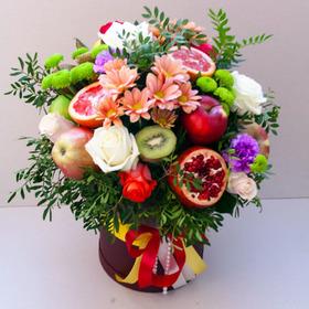 Цветы и фрукты в коробке #9