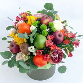 Цветы и фрукты в коробке #5
