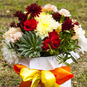 Цветы в коробке #28