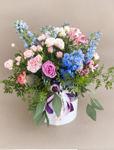 Цветы в коробке #24