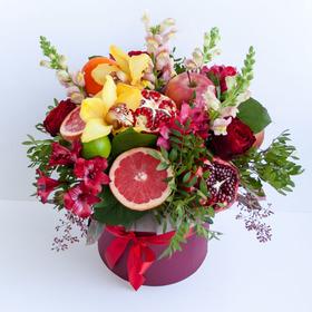 Цветы и фрукты в коробке #2