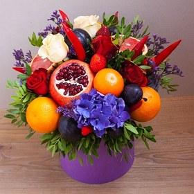 Цветы и фрукты в коробке #14