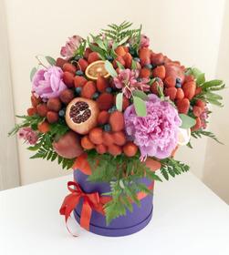 Цветы и фрукты в коробке #11