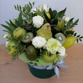 Цветы и фрукты в коробке #4