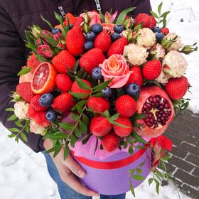 Цветы и фрукты в коробке #10